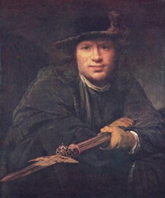 Арт де Гелдер. Портрет мужчины с алебардой