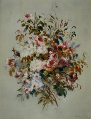 Pierre-Auguste Renoir. A bouquet of roses