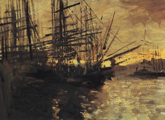 Konstantin Korovin. Ships. Marseille