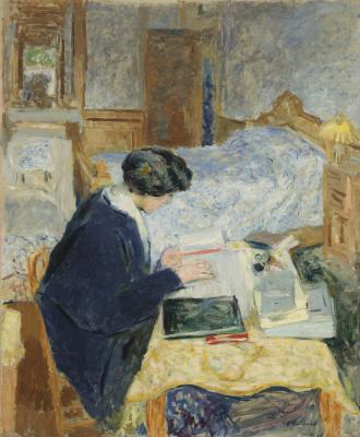 Jean Edouard Vuillard. Lucy Hessel Reading
