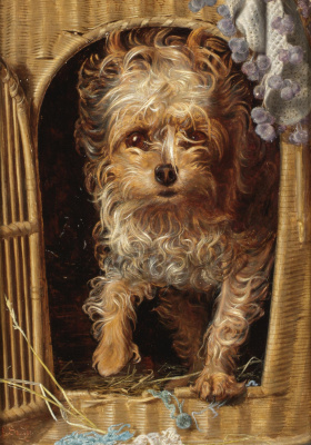 Anthony Frederick Augustus Sandys. Darby in his basket