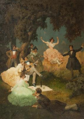 Alfred Rudolf Hoger. Girls on the picnic