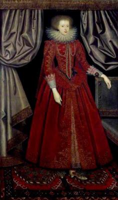 William Larkin. Nevet portrait of Catherine, Countess of Suffolk