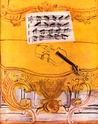 Raul Dufy. Yellow harmonium with violin