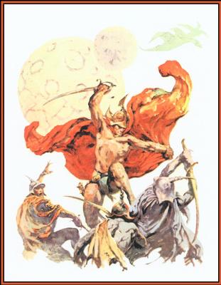 Frank Frazetta. Swordsman in the sky