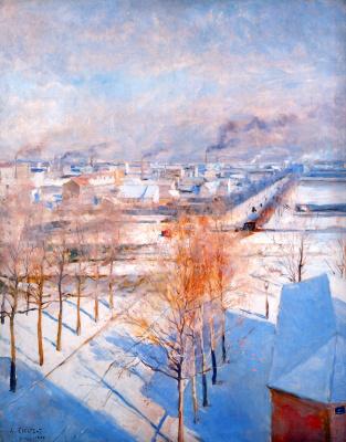 Альберт Густав Аристид Эдельфельт. Париж в снегу