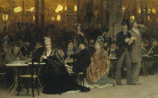 Ilya Efimovich Repin. Paris cafe
