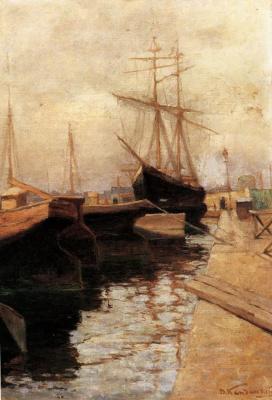 Wassily Kandinsky. Odessa. Port