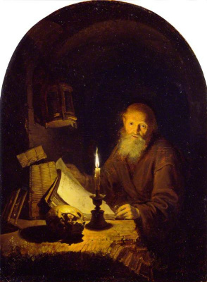 Gerrit (Gerard) Dow. The hermit