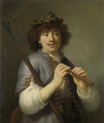 Говарт Флинк. Рембрандт в образе пастушка с флейтой