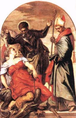 Якопо Тинторетто. Святой Георгий и принцесса