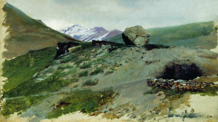 Nikolay Aleksandrovich Yaroshenko. The mountainous landscape. 1880