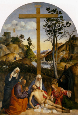Giovanni Bellini. Crying over the dead Christ