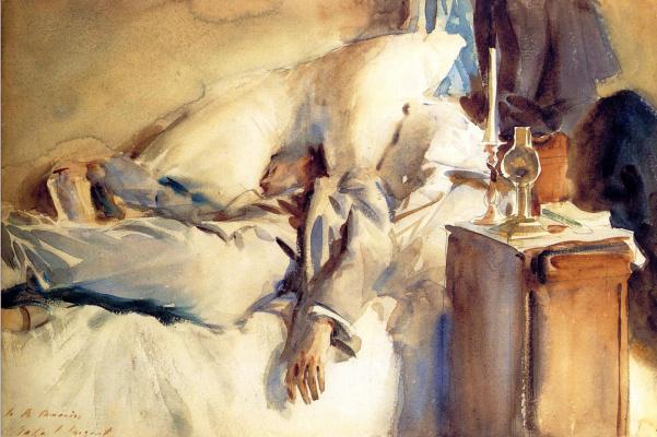 John Singer Sargent. Sleep Peter Harrison