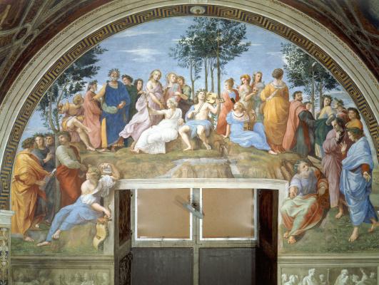 Raphael Sanzio. The Stanzas Of The Vatican. Parnassus