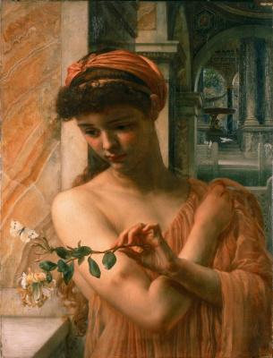 Edward John Poynter. Psyche in the Temple of Love