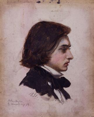 Arthur Hughes. Self-portrait