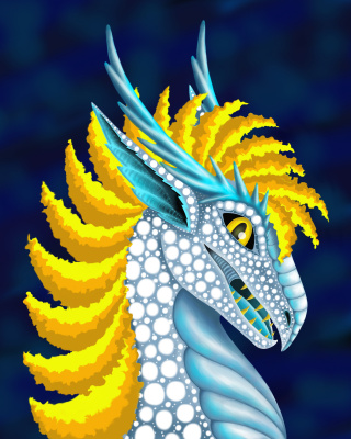Olga Vasilievna Potapova. Yellow maned snow dragon
