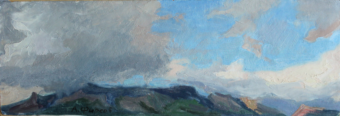 Alexey Petrovich Firsov. Clouds over mountains