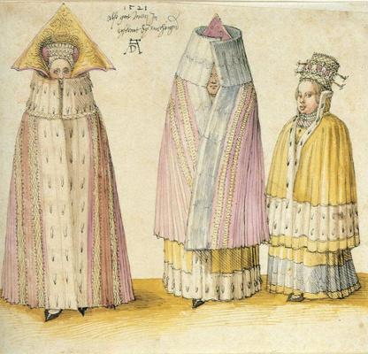 Альбрехт Дюрер. Три знатных дамы из Ливонии