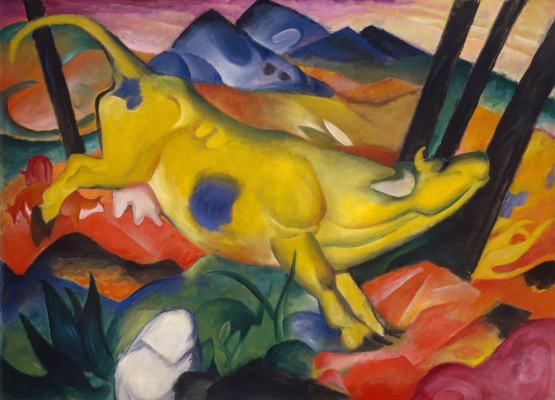 Franz Marc. Yellow cow