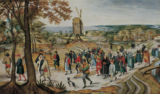 Peter Brueghel The Younger. Peasant wedding procession