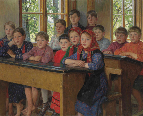 Nikolay Petrovich Bogdanov-Belsky. In the class