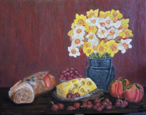 Nataly Yakubovskaya. Still life with cheese