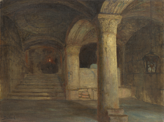 Vasily Dmitrievich Polenov. Asylum under the Al-Aqsa Mosque. Temple Mount, Jerusalem