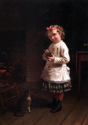 Томас Ватерман Вуд. Девочка
