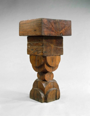 Constantine Brancusi. The oak base.