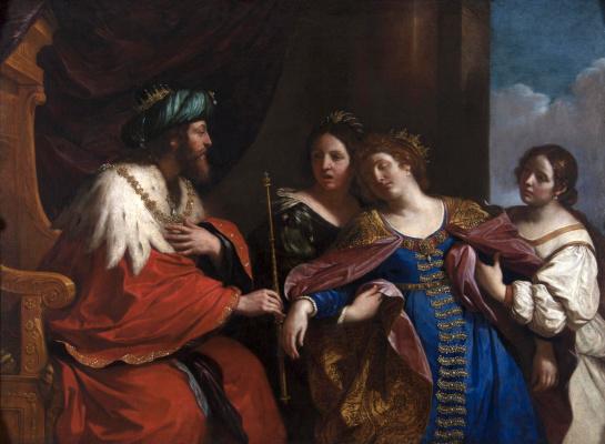 Giovanni Francesco Guercino. Esther before Artaxerxes.