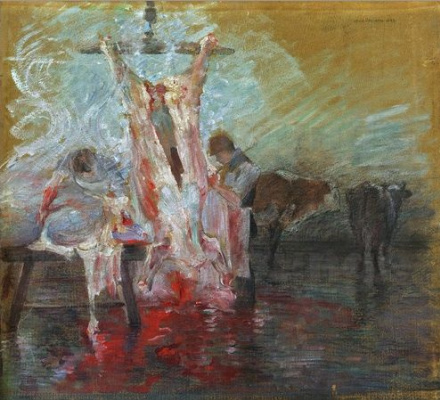 Lovis Corinto. Slaughterhouse