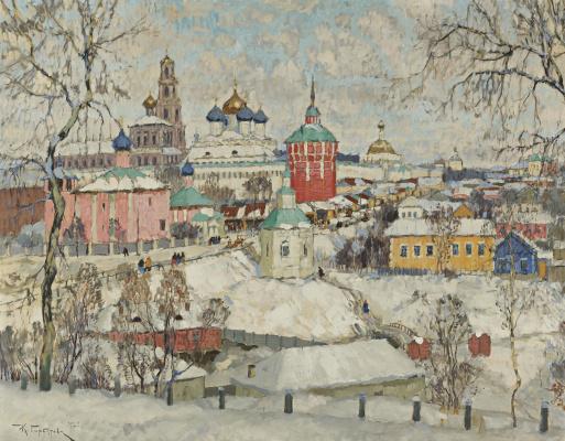Константин Иванович Горбатов. Вид Троице-Сергиевой Лавры. 1923