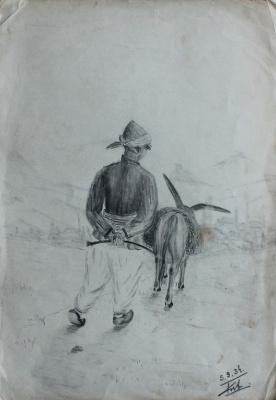 Petr Filippovich Alberti. Boy and donkey