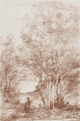 Camille Corot. Rest of the philosophers