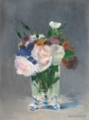 Edouard Manet. Flowers in a crystal vase