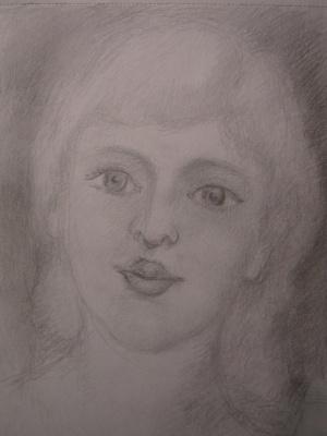 Pavel Markovich Osherov. Portrait of a girl