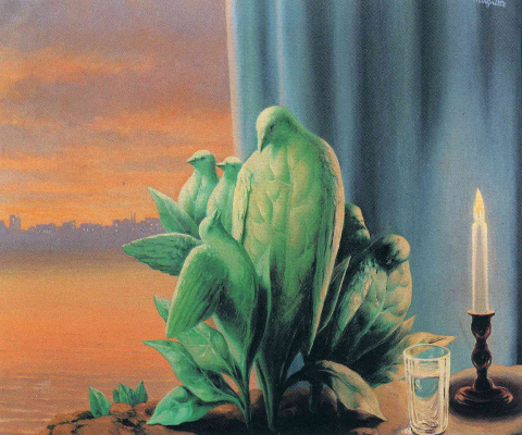 René Magritte. Night of love