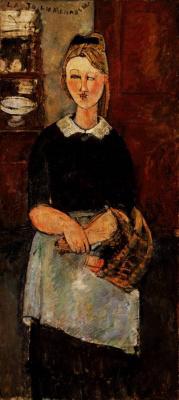 Amedeo Modigliani. Cute housewife