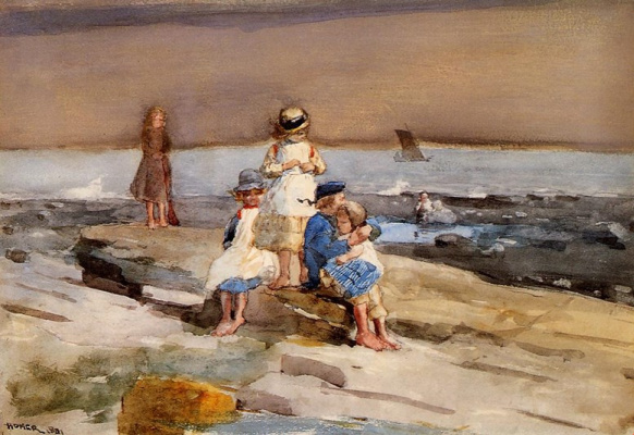 Winslow Homer. Children on the beach