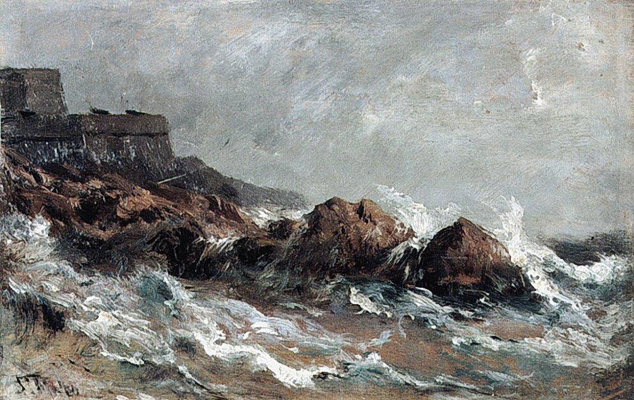 Alexey Petrovich Bogolyubov. Rocks in Saint-Malo