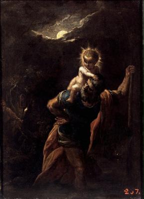 Adam Elshheimer. Saint Christopher