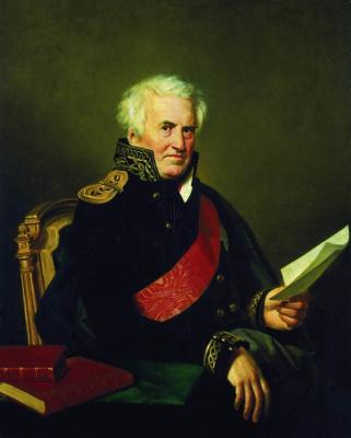 Orest Adamovich Kiprensky. Portrait of A.S. Shishkov in the Admiral's Uniform