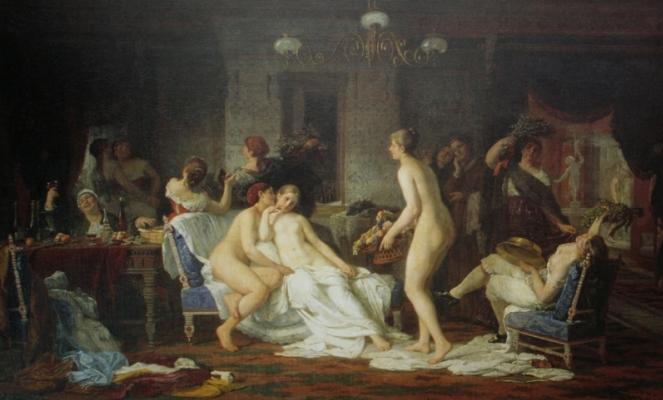 Firs Sergeevich Zhuravlev. Bachelorette party in the bath. National Art Museum of the Republic of Belarus, Minsk