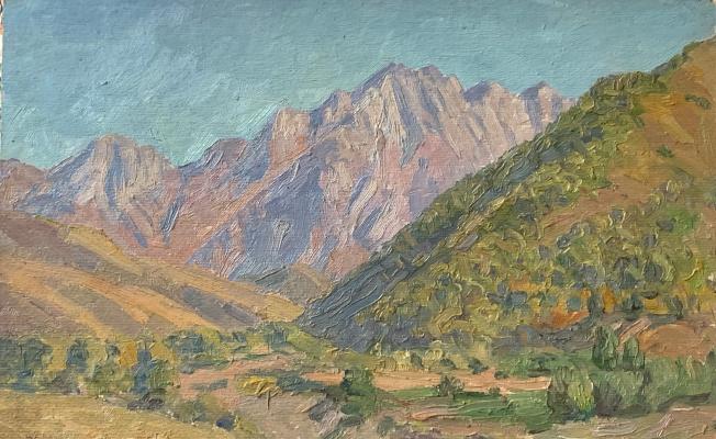 Oleg Alekseevich Dmitriev. Kyrgyzstan. Morning in the mountains
