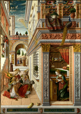 Carlo Crivelli. The Annunciation with Saint Emidius in Ascoli Piceno