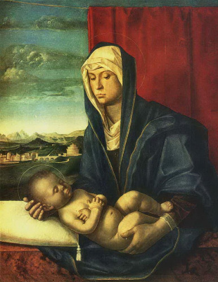 Gentile Bellini. The Madonna and child