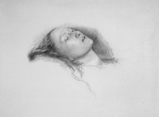 John Everett Millais. Ophelia. Sketch