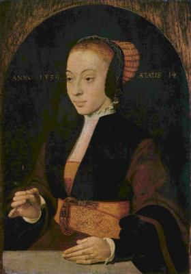 Бартоломей Бруйн Старший. Портрет молодой женщины